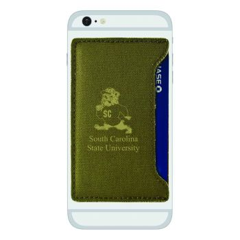 South Carolina State University-Durable Canvas Card Holder-Olive