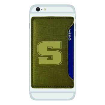 Slippery Rock University -Durable Canvas Card Holder-Olive