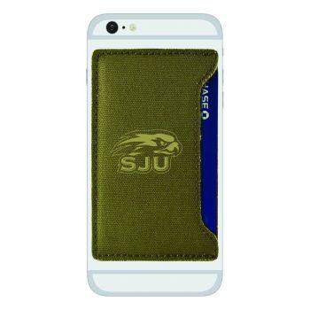 Saint Joseph's university-Durable Canvas Card Holder-Olive
