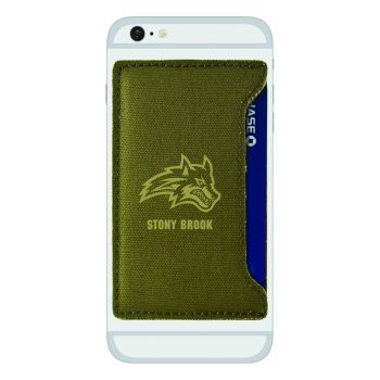 Stony Brook University-Durable Canvas Card Holder-Olive