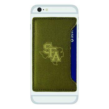Stephen F. Austin State University-Durable Canvas Card Holder-Olive