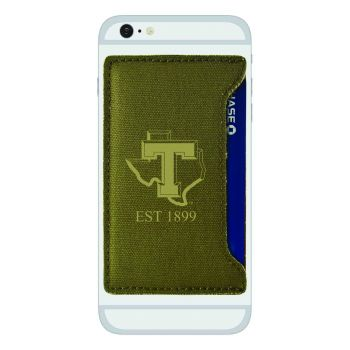 Tarleton State University-Durable Canvas Card Holder-Olive