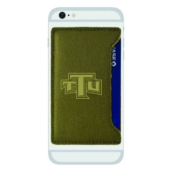 Tennessee Technological University-Durable Canvas Card Holder-Olive
