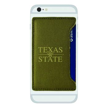 Texas State University-Durable Canvas Card Holder-Olive
