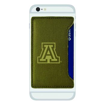 University of Arizona-Durable Canvas Card Holder-Olive