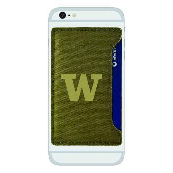 University of Washington-Durable Canvas Card Holder-Olive