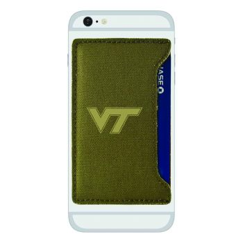 Virginia Tech-Durable Canvas Card Holder-Olive