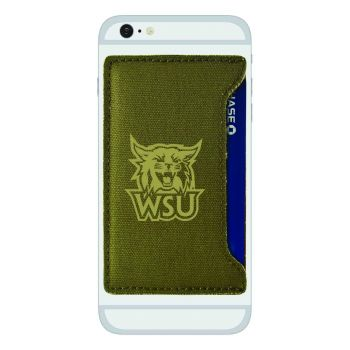 Weber State University-Durable Canvas Card Holder-Olive