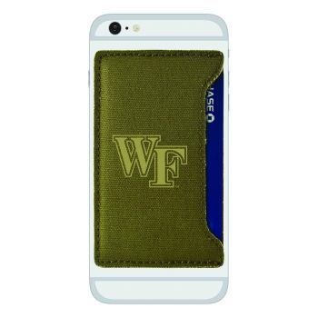 Wake Forest University-Durable Canvas Card Holder-Olive