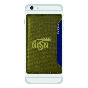 Wichita State University-Durable Canvas Card Holder-Olive