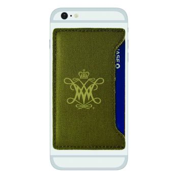 College of William & Mary-Durable Canvas Card Holder-Olive