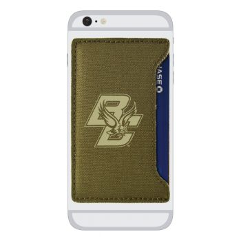 Boston College-Durable Canvas Card Holder-Olive