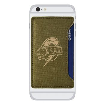 Southern Utah University-Durable Canvas Card Holder-Olive