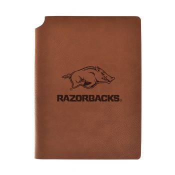 University of Arkansas Velour Journal with Pen Holder|Carbon Etched|Officially Licensed Collegiate Journal|