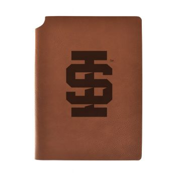 Idaho State University Velour Journal with Pen Holder|Carbon Etched|Officially Licensed Collegiate Journal|