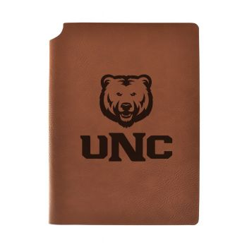 University of Northern Colorado Velour Journal with Pen Holder|Carbon Etched|Officially Licensed Collegiate Journal|