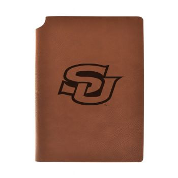 Southern University Velour Journal with Pen Holder|Carbon Etched|Officially Licensed Collegiate Journal|