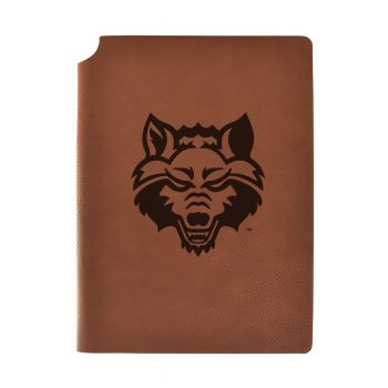 Arkansas State University Velour Journal with Pen Holder|Carbon Etched|Officially Licensed Collegiate Journal|