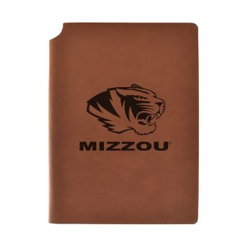 University of Missouri Velour Journal with Pen Holder|Carbon Etched|Officially Licensed Collegiate Journal|