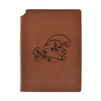 Tulane University Velour Journal with Pen Holder|Carbon Etched|Officially Licensed Collegiate Journal|
