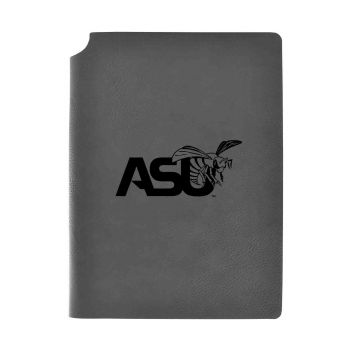 Alabama State University-Velour Journal with Pen Holder-Carbon Etched-Officially Licensed Collegiate Journal-Grey