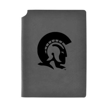 University of Arkansas At Little Rock-Velour Journal with Pen Holder-Carbon Etched-Officially Licensed Collegiate Journal-Grey