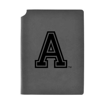 United States Military Academy-Velour Journal with Pen Holder-Carbon Etched-Officially Licensed Collegiate Journal-Grey