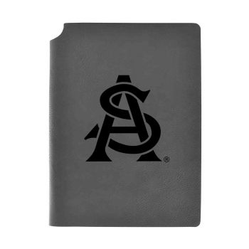 Arizona State University-Velour Journal with Pen Holder-Carbon Etched-Officially Licensed Collegiate Journal-Grey