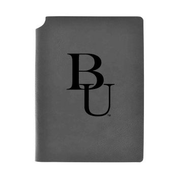 Belmont University-Velour Journal with Pen Holder-Carbon Etched-Officially Licensed Collegiate Journal-Grey