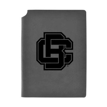 Bethune-Cookman University-Velour Journal with Pen Holder-Carbon Etched-Officially Licensed Collegiate Journal-Grey