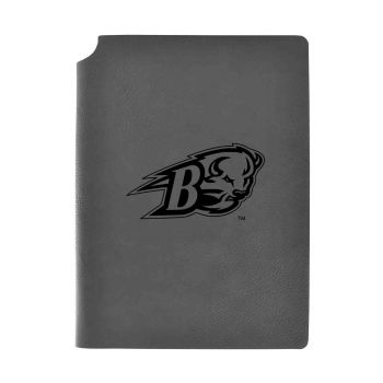 Bucknell University-Velour Journal with Pen Holder-Carbon Etched-Officially Licensed Collegiate Journal-Grey