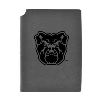 Butler University -Velour Journal with Pen Holder-Carbon Etched-Officially Licensed Collegiate Journal-Grey