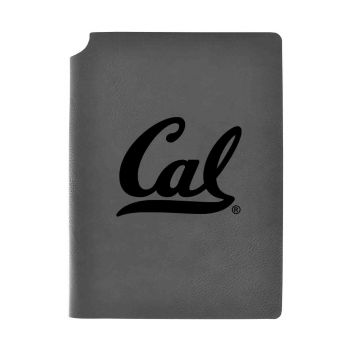 University of California Berkeley -Velour Journal with Pen Holder-Carbon Etched-Officially Licensed Collegiate Journal-Grey