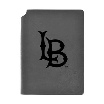 Long Beach State University-Velour Journal with Pen Holder-Carbon Etched-Officially Licensed Collegiate Journal-Grey