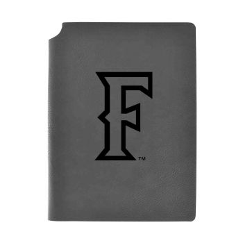 California State Univeristy Fullerton -Velour Journal with Pen Holder-Carbon Etched-Officially Licensed Collegiate Journal-Grey
