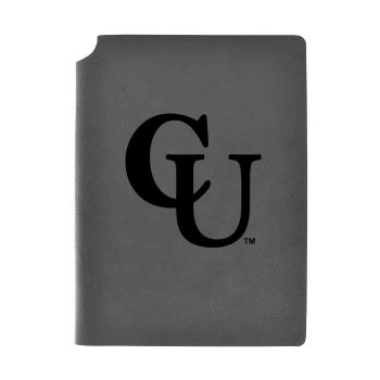 Campbell University-Velour Journal with Pen Holder-Carbon Etched-Officially Licensed Collegiate Journal-Grey