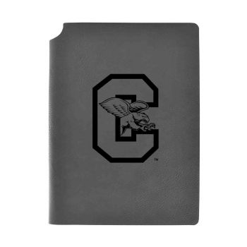 Canisus College-Velour Journal with Pen Holder-Carbon Etched-Officially Licensed Collegiate Journal-Grey