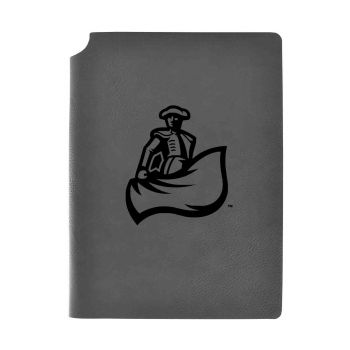 California State University, Northridge-Velour Journal with Pen Holder-Carbon Etched-Officially Licensed Collegiate Journal-Grey