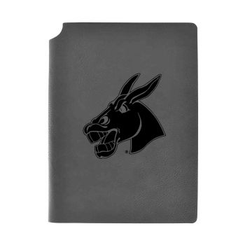 University of Central Missouri-Velour Journal with Pen Holder-Carbon Etched-Officially Licensed Collegiate Journal-Grey