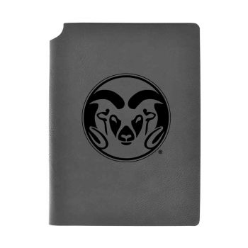 Colorado State University-Velour Journal with Pen Holder-Carbon Etched-Officially Licensed Collegiate Journal-Grey