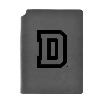 Dartmouth College-Velour Journal with Pen Holder-Carbon Etched-Officially Licensed Collegiate Journal-Grey