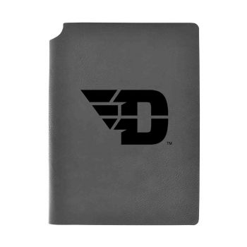 University of Dayton-Velour Journal with Pen Holder-Carbon Etched-Officially Licensed Collegiate Journal-Grey
