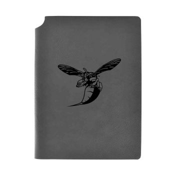 Delaware State University-Velour Journal with Pen Holder-Carbon Etched-Officially Licensed Collegiate Journal-Grey