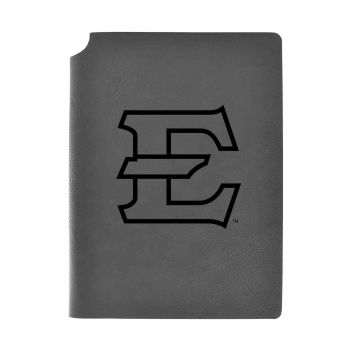 East Tennessee State University-Velour Journal with Pen Holder-Carbon Etched-Officially Licensed Collegiate Journal-Grey