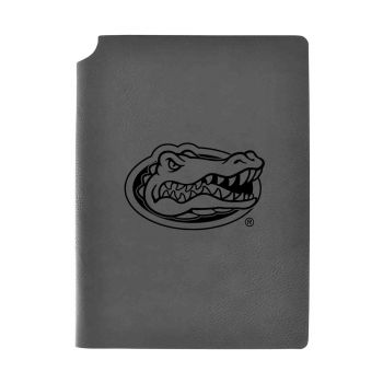 University of Florida-Velour Journal with Pen Holder-Carbon Etched-Officially Licensed Collegiate Journal-Grey
