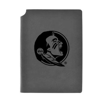 Florida State University-Velour Journal with Pen Holder-Carbon Etched-Officially Licensed Collegiate Journal-Grey