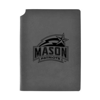 George Mason University -Velour Journal with Pen Holder-Carbon Etched-Officially Licensed Collegiate Journal-Grey