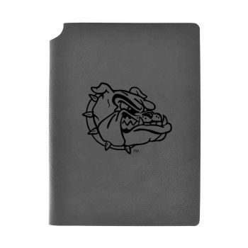Gonzaga University -Velour Journal with Pen Holder-Carbon Etched-Officially Licensed Collegiate Journal-Grey