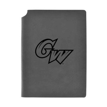 George Washington University -Velour Journal with Pen Holder-Carbon Etched-Officially Licensed Collegiate Journal-Grey