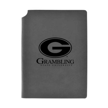 Grambling State University-Velour Journal with Pen Holder-Carbon Etched-Officially Licensed Collegiate Journal-Grey